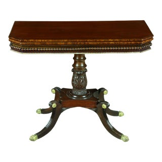 Mahogany Neoclassical Card Table