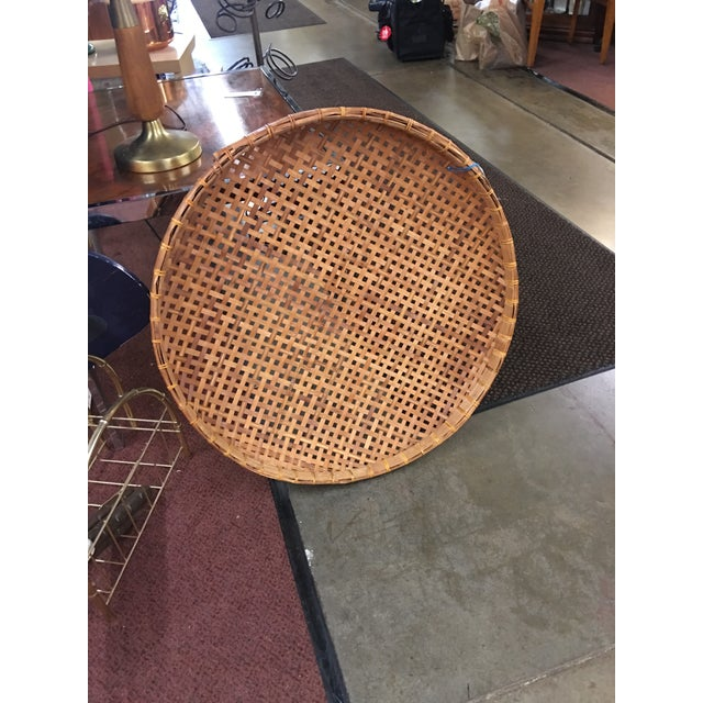 Extra Large Round Wicker Flat Basket Wall Hanging Chairish