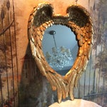 Image of Gilded Angel Wings Mirror