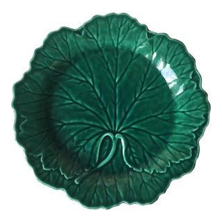 Antique Wedgwood Majolica Leaf Pate