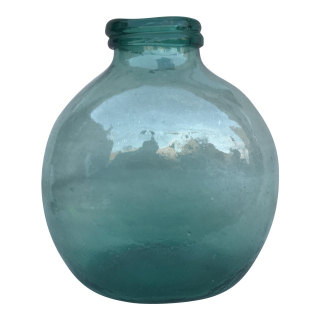 Spanish Hand Blown Glass Pharmacy Jar - Image 1 of 4