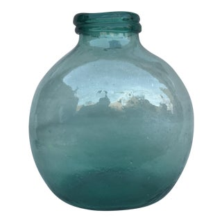 Spanish Hand Blown Glass Pharmacy Jar