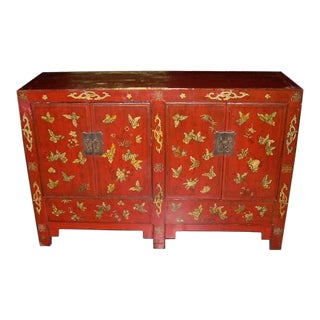 Chinese Antique Butterfly Chest