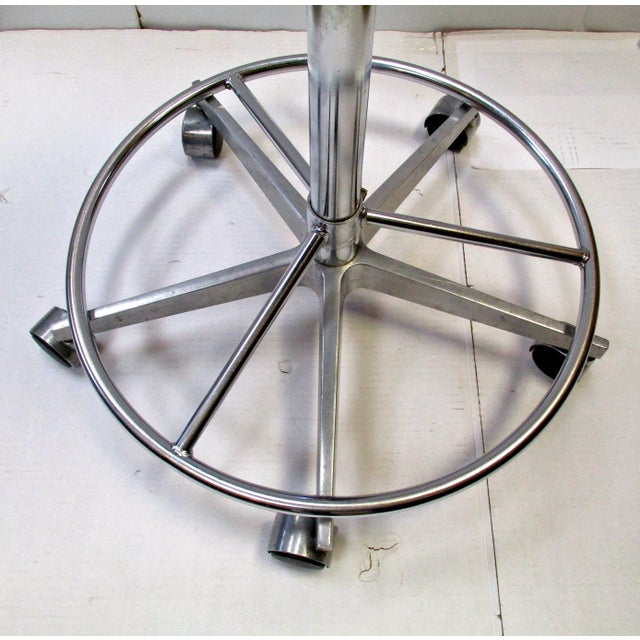 Industrial Adjustable Metal Rolling Stools - Set of 3 - Image 4 of 4