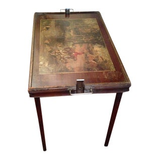 Vintage Hunting Scene Folding Tray Table
