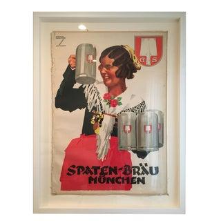 Custom Framed Vintage German Poster
