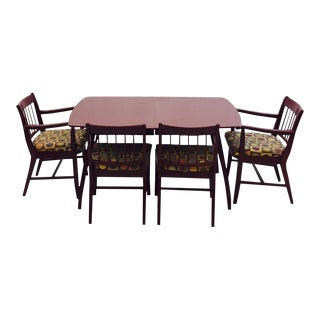 Vintage Mid-Century Drexel Dining Table & 6 Chairs