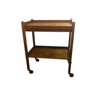 Antique British Oak Tea Cart