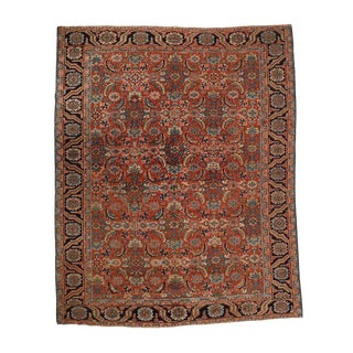 "Semi-Antique Heriz Rug - 9'7"" x 7'"