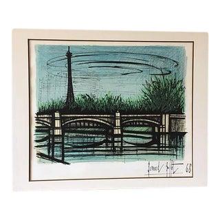 """Bernard Buffet """"La Tour Eiffel"""" Lithograph"""