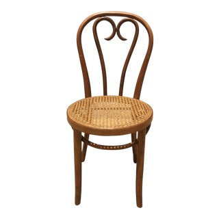 Vintage Bentwood & Cane Chair In The Style of Michael Thonet