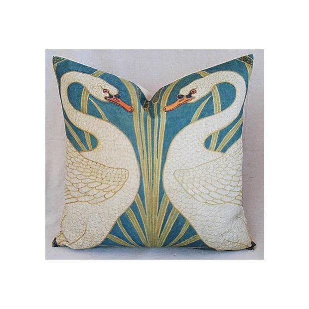 Swans Linen Down & Feather Accent Pillow - Image 2 of 4