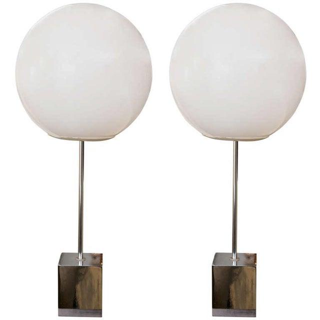 Robert Sonneman 1960's Globe Lamp - A Pair - Image 1 of 6