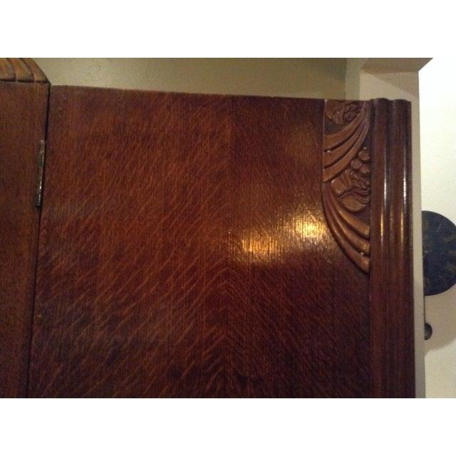 1920 art deco armoire chairish. Black Bedroom Furniture Sets. Home Design Ideas