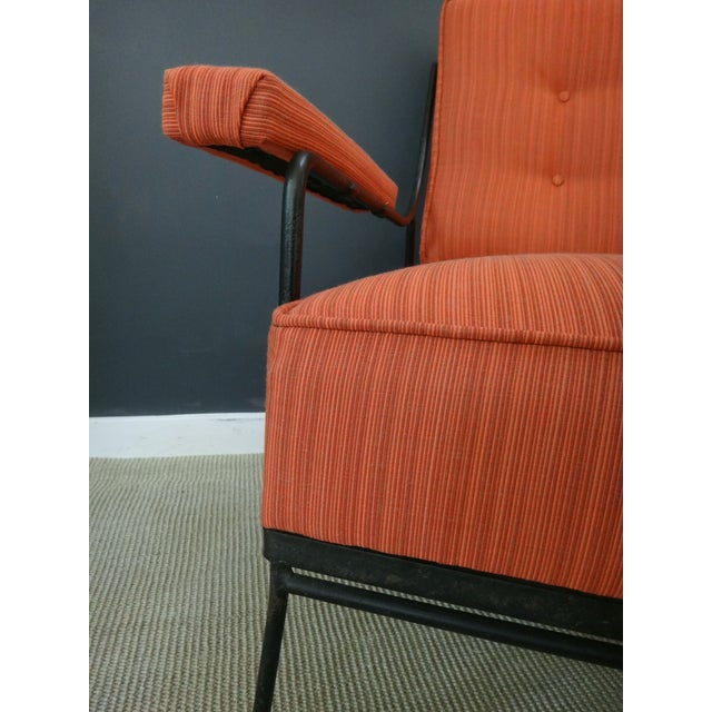 Mid Century Upholstered Chair and Ottoman - Image 6 of 6