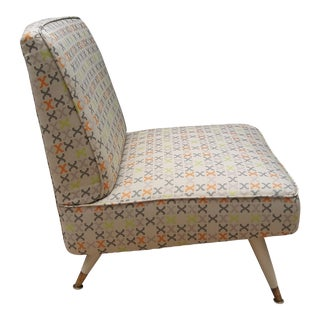 Mid-Century Reupholstered Slipper Chair