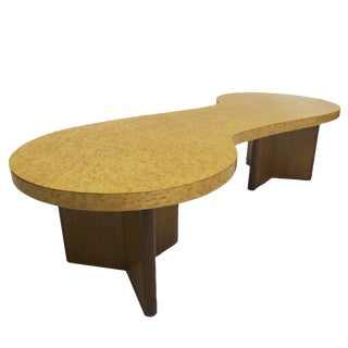 Rare Andrew Szoeke Associates Biomorphic Coffee Table in Bird's-Eye Maple