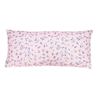 "Breeze in Pink Linen Pillow - 10"" X 22"""
