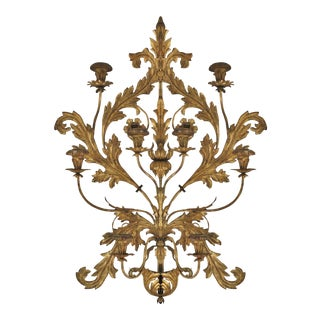 Antique Italian Gilt Metal Wall Sconce