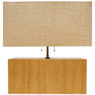 Rectangular Zebra Wood Table Lamp