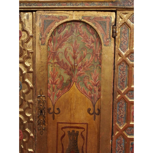 Italian Polychrome Two Door Cabinet - Image 5 of 11