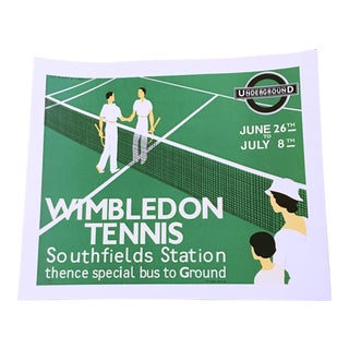 Re Society Wimbleton Tennis Poster