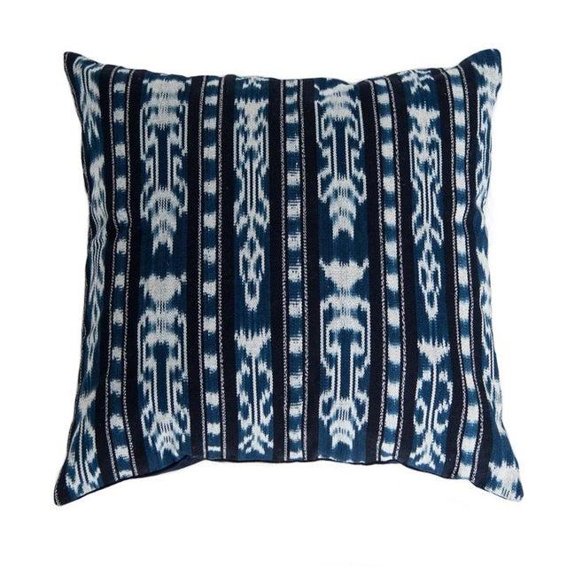 Guatemalan Indigo Ikat Pillow - Image 1 of 3