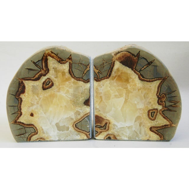 Dragonstone Geode Bookends- A Pair - Image 2 of 6