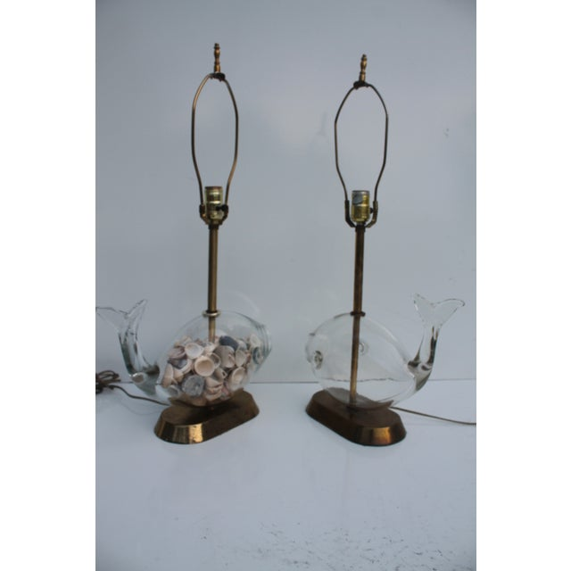 Blencko Art Glass Fish Table Lamps - A Pair - Image 11 of 11