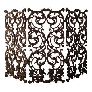 Beautiful Ornate Wrought Iron Fireplace Screen