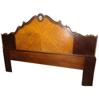 Louis XV King Size Satinwood & Mahogany Headboard