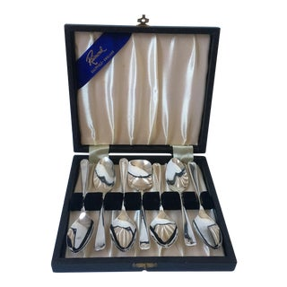 Sheffield Plate Grapefruit Spoons - Set of 6