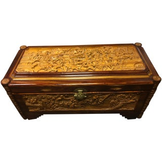 Ornate Hand-Carved Asian Chest