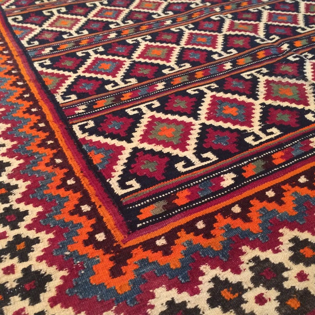 "Vintage Persian Bakhtiari Rug - 4'3"" x 6'9"" - Image 4 of 5"