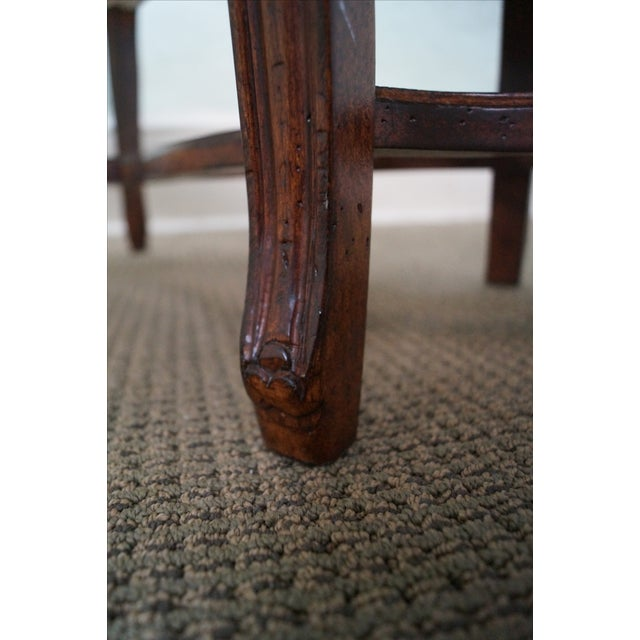 Custom French Louis XV Walnut Window Bench - Image 7 of 10
