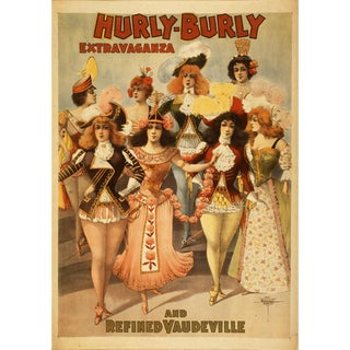 Hurly Burly Reproduction 1800s Vaudeville Poster Print