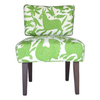 Lime Green Otomi Upholstered Chair