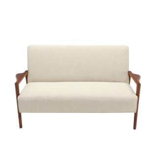 New Upholstery Danish Modern Loveseat Sofa