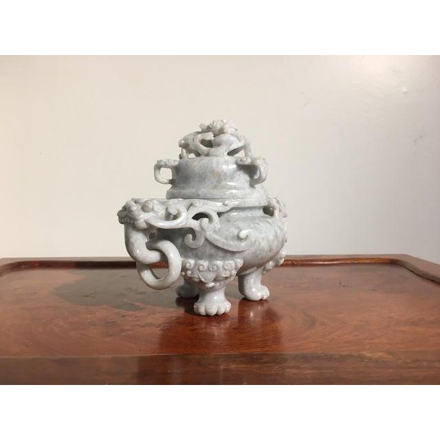 Chinese Gray Nephrite Jade Censer, mid 20th century - Image 5 of 9