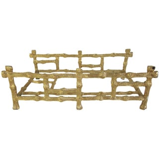 Gilded Bamboo Hand Towel or Napkin Holder