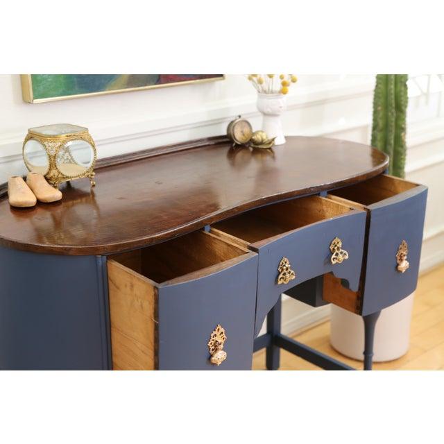 Circa 1930 Louis XV Style Petite Kidney Shaped Desk - Image 6 of 11