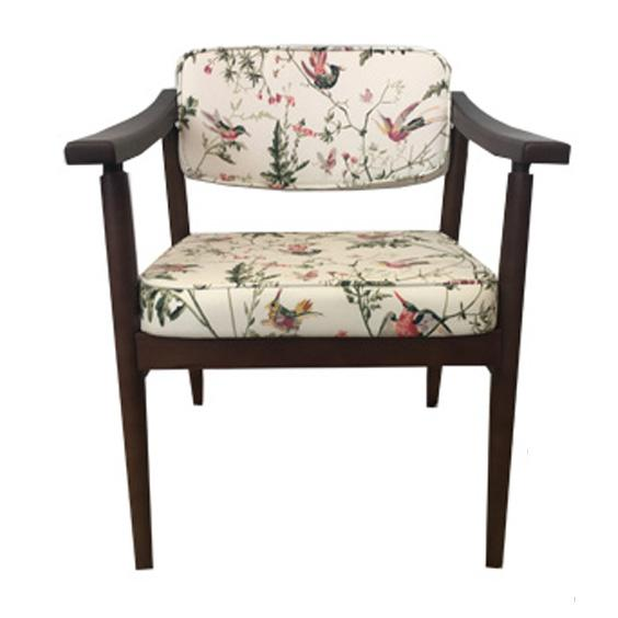 Danish MidCentury Chinoiserie Hummingbird Chairs - A Pair - Image 3 of 4