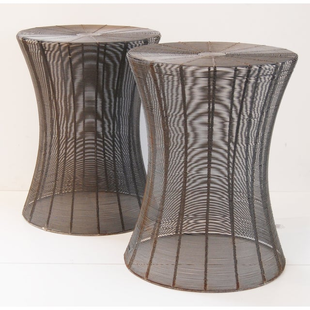 Aged Wire Outdoor Side Tables - A Pair - Image 2 of 5