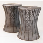 Image of Aged Wire Outdoor Side Tables - A Pair