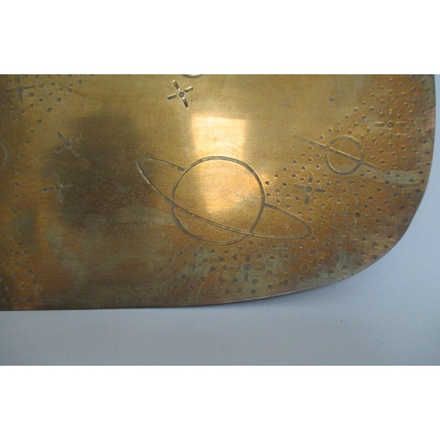 Vintage Brass Planets and Stars Tray - Image 4 of 5
