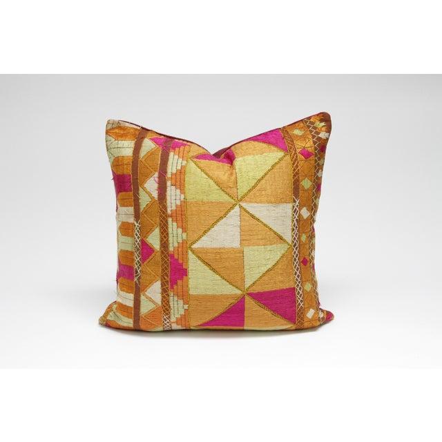 Silken Bagh Phulkari Pillow - Image 3 of 3