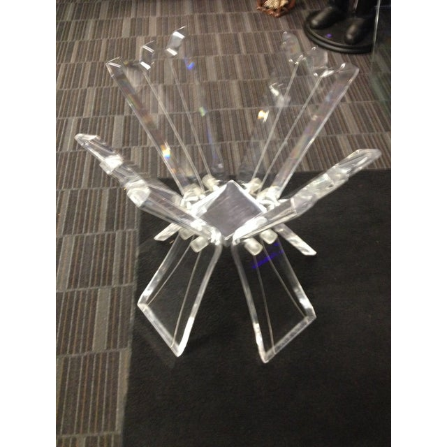 Image of Mid-Century Crystal Lucite Sculptural Dining Table