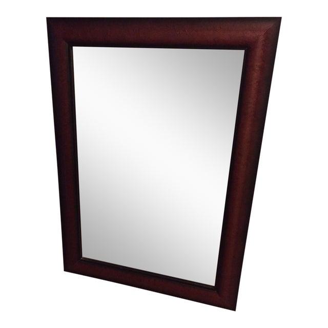 Cherry Wood Framed Rectangular Wall Mirror | Chairish