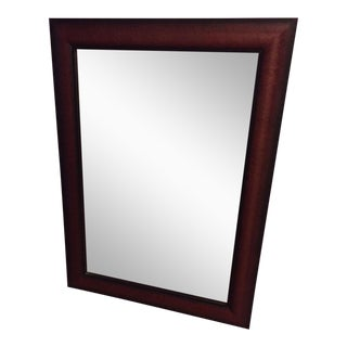 Cherry Wood Framed Rectangular Wall Mirror