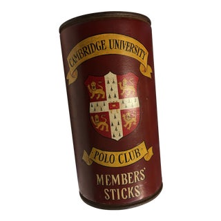 Cambridge University Polo Club Members Sticks Can